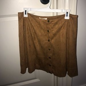 Tan skirt with buttons